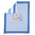Patura landou Chicco jerse elastic alb cu bleu 99