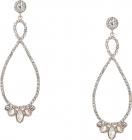 Stone Loop Drop Earrings Crystal