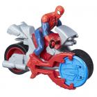 Figurina Spider Man Blastn Go cu Motocicleta