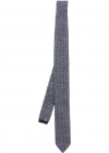 Blue Inlay Knitted Tie