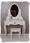 SEA54 Set Masa alb toaleta cosmetica machiaj oglinda si scaun masuta