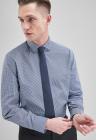Set de camasa regular fit in carouri si cravata