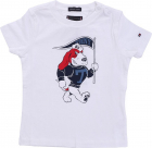 Tommy Hilfiger White T Shirt With Red And Blue Basset Hound Print