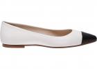 Malika Flex Ivory And Black Flats