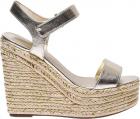 Platinum Leather Grand Sandals