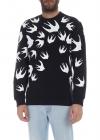 MCQ Alexander McQueen Mcq Sweatshirt In Black With Swallow Print