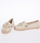 Canvas VAIL Espadrillas with Jewel Details