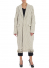 Ys Beige And White Fabric Coat