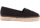 Black Espadrilles With Karl Embroidery