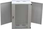 Cabinet metalic Logilink W09F64G 9U Wall Mount 540 x 460 Glass door Gr