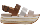 H432 Sandals In Contrasting Stripes