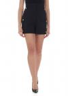 Versus Versace Black Shorts With Logo Details
