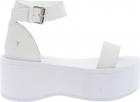 White Celesta Platform Sandals