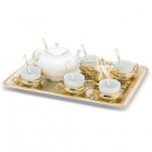 Coffee Tea Set For Six Gold Plated by Chinelli Made in Italy