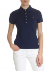 Blue Polo Shirt With Contrasting Logo