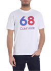 White Crewneck T Shirt With 68 Print