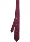 Polka Dots Printed Tie In Red Silk