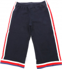 Blue Cotton Trousers With Contrasting Trim