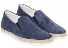 Blue Leather Slip On
