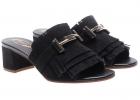 Black Sandals With Fringes