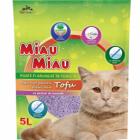 Asternut igienic pentru pisici MIAU MIAU TOFU LAVANDA 5L