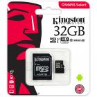 Card micro SDHC Kingston CANVAS Select SDCS 32GB 32GB Class U1