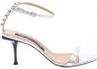 Sr Milano 075 Sandals In Silver Leather