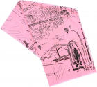 Journal Print Scarf In Pink