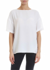 Silk Blend T Shirt In White