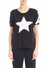 T Shirt In Black With Contrasting Sequins