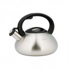 Ceainic din inox satinat cu fluier KingHoff capacitate 3 litri inducti