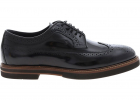 Leather Brogue Derby In Black