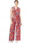 Delphos Floral Jersey Jumpsuit