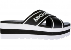 Demi Sport Slippers In Black And White