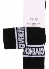 Black Socks With White Logo Embroidery