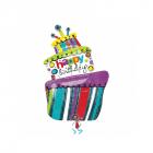 Balon Folie Happy Birthday Tort