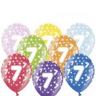 Set Baloane Metalizate 7 6 buc 30 cm