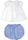 Baby Girl Set In White And Blue