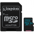 Kingston 128GB microSDXC Canvas Go 90R 45W U3 UHS I V30 Card SD Adapte