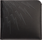 Genuine Leather Wallet Credit Card Bifold Thunderbolt Fair Isle