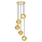 The Etch Mini Chandelier from Tom Dixon in Brass