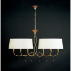 Plafoniera Mantra M0541 Paola Pendant 6 Light Gold Leaf