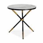 Masuta cafea Liang Eimil Eton Side Table White Marble Black High Gloss