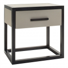 Comoda Liang Eimil Roux Bedside Table Taupe Faux Leather Wenge Oak