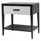 Comoda Liang Eimil Sina Bedside Table Wenge Oak Mirror