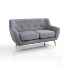 Canapea fixa sofa 2 seats JOHN GREY