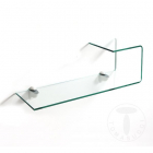 Raft living glass curved shelf LIZ