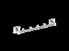 Port prosop Bemeta Beta 42cm cu 5 agatatori crom