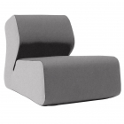 Fotoliu Clasic Softline Hugo lounge felt light gray dark gray 620