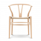 Scaun living The CH24 Wishbone by Carl Hansen in Soaped Beech Natural